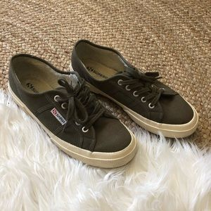Superga shearling lined canvas sneaker